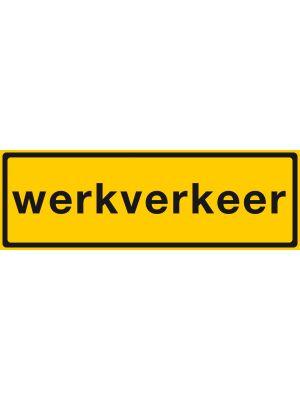 STICKER WERKVERKEER 600X200 RETROREFL