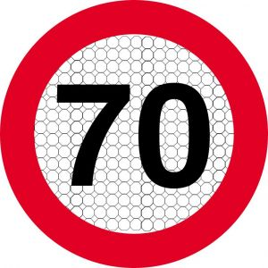 STICKER ROND 90 km/h