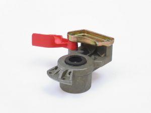 Koppelingshandje, rood; voorraad; deksel: kunsstof; aansluit.: M1
