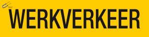 STICKER MAGNEET WERKVERKEER 40X10